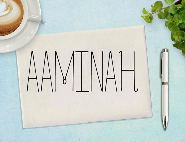 aaminah_font