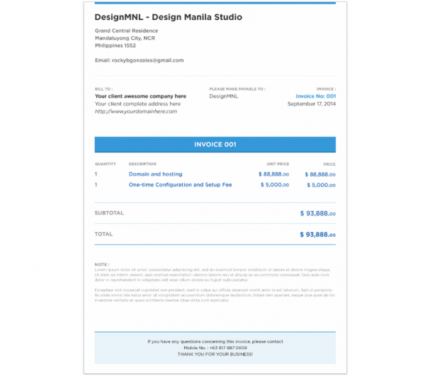 free_psd_invoice_template