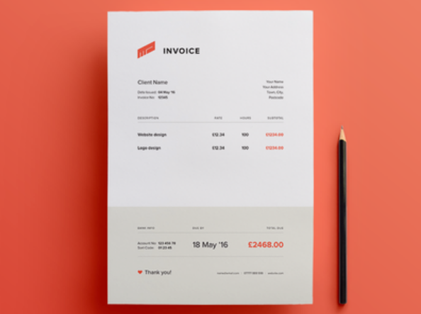 Free Invoice Templates Word PDF PSD UTemplates - Psd invoice template