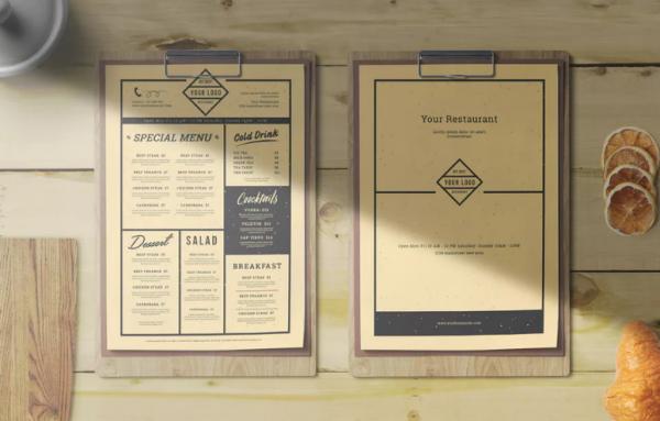 Full Editable Vintage Restaurant Menu