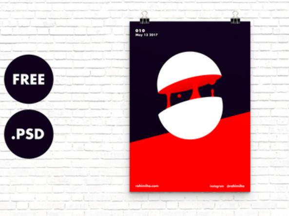 free_minimalist_psd_wall_poster_mockup