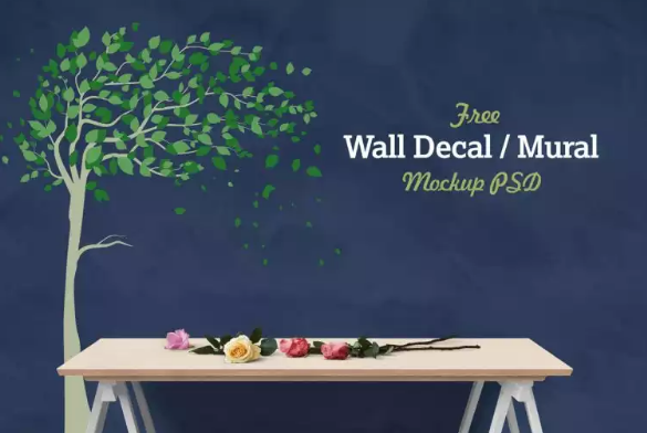 free_vinyl_wall_decal_mural_sticker_art_mockup_psd