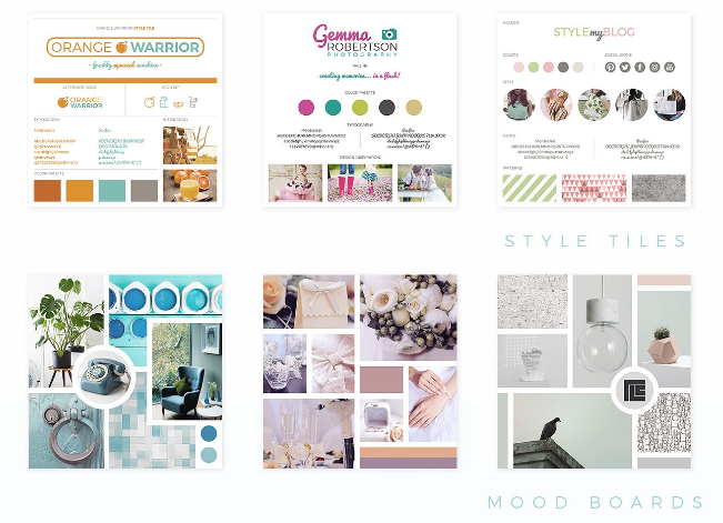 interior design sample board template layout