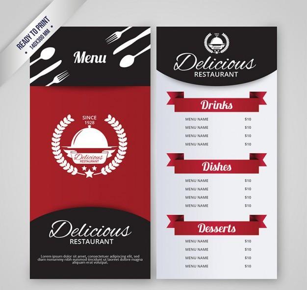 restaurant_menu_template_free_vector
