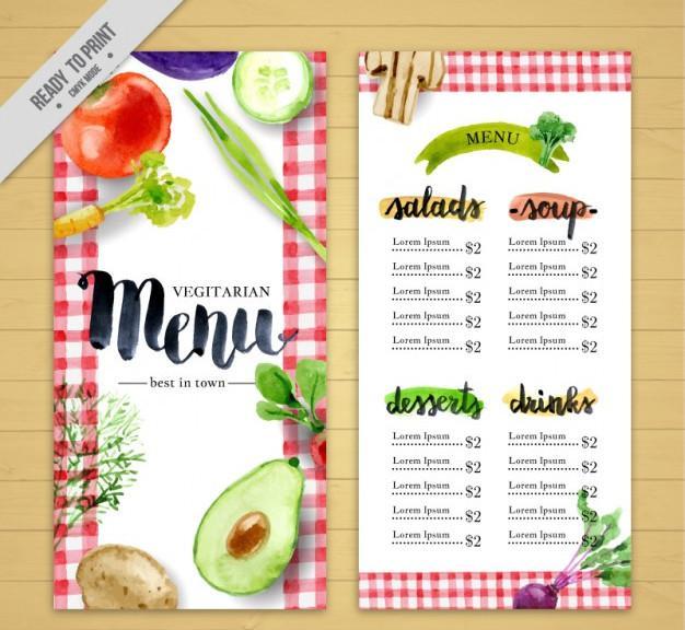 watercolor_menu_for_vegan_restaurant