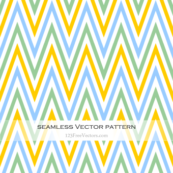 green_blue_and_yellow_seamless_chevron_pattern