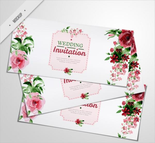 Elegant Wedding Invitation Templates: 30+ High-Quality PSD Invitation Mockup Templates (FREE