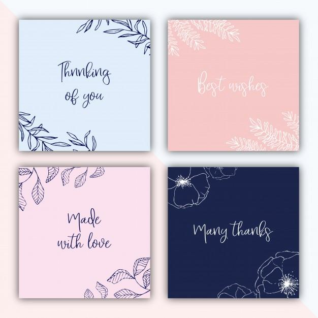 four_square_gift_tags_with_hand_drawn_illustrations