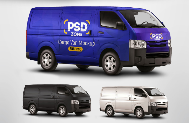 This Cargo Van Mockup Is Perfect Choice For Wrap Branding Or Courier And Much More Psd Mock Up Very Easy To Use Just Add Your