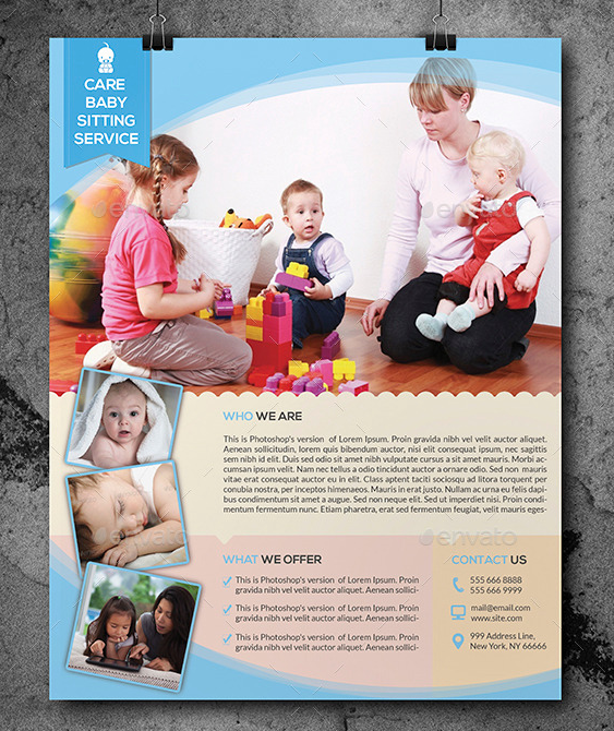 10 Beautiful Babysitting Flyer Templates Utemplates