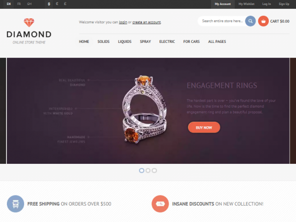 10 Beautiful Free Html Css Jewelry Website Templates Utemplates