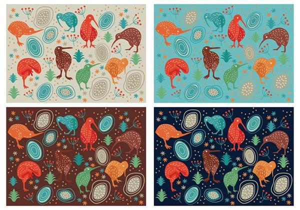 vector_cute_kiwi_birds_pattern