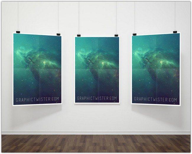 triple_hanging_poster_frame_mockup_psd