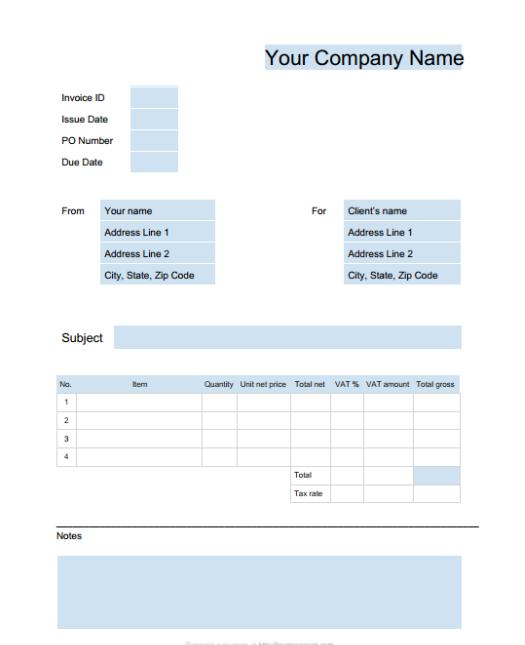 15 Free Google Docs Invoice Templates Utemplates