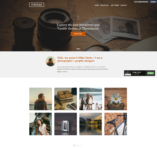 10 of The Best Vintage Tumblr Themes | UTemplates