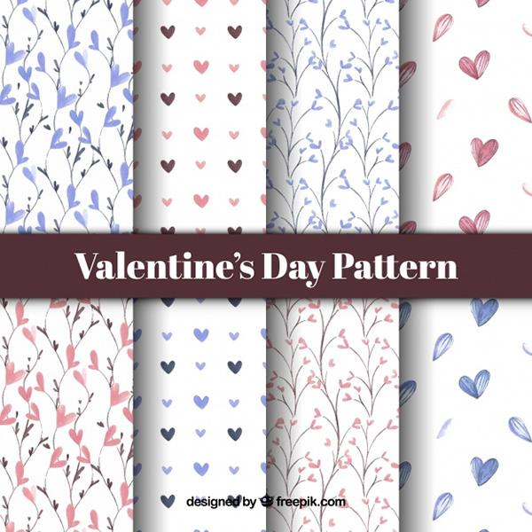 watercolor_valentine's_day_pattern