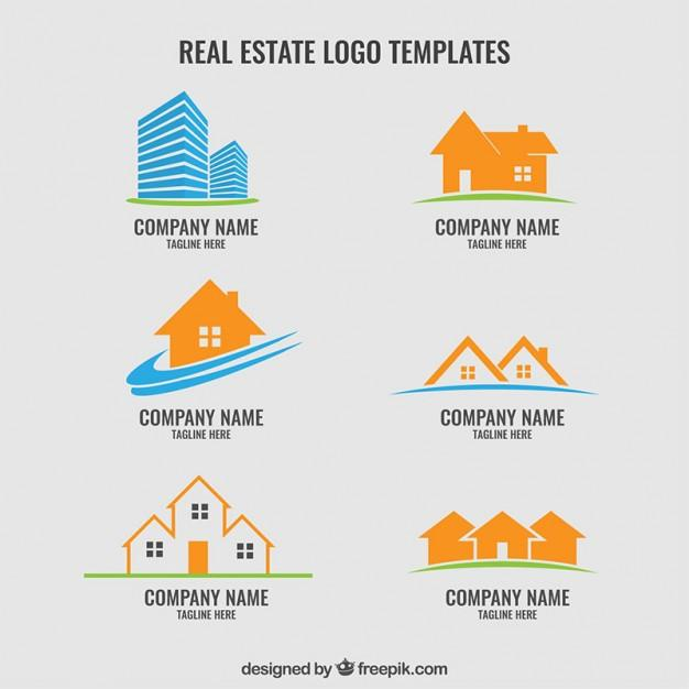 collection_of_real_estate_logos_template