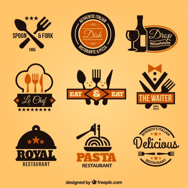 collection_of_restaurant_badges_template
