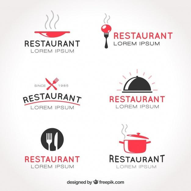 collection_of_restaurant_logos_template