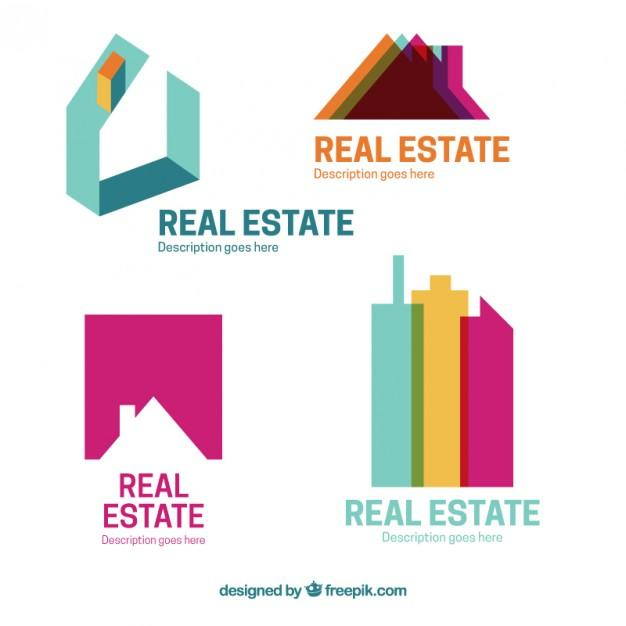 colored_flat_real_estate_logotypes_template