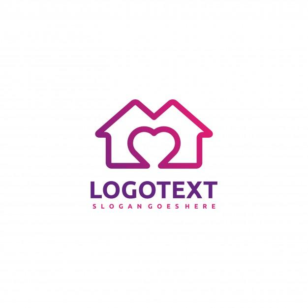 house_and_love_logo_template