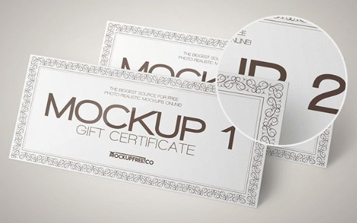 10 nice voucher mockup psd templates utemplates 63 free gift certificate psd mockups yelopaper Images