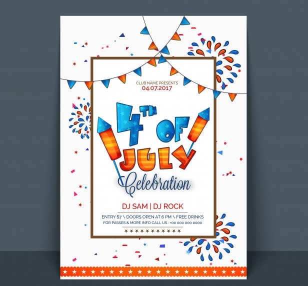 12 best  u0026 free 4th of july flyer templates