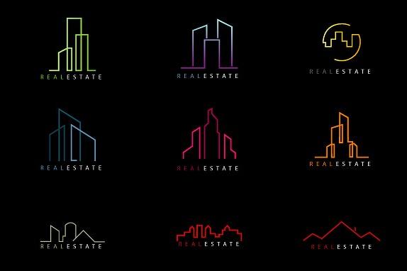 minimal_line_drawing_real_estate_logos