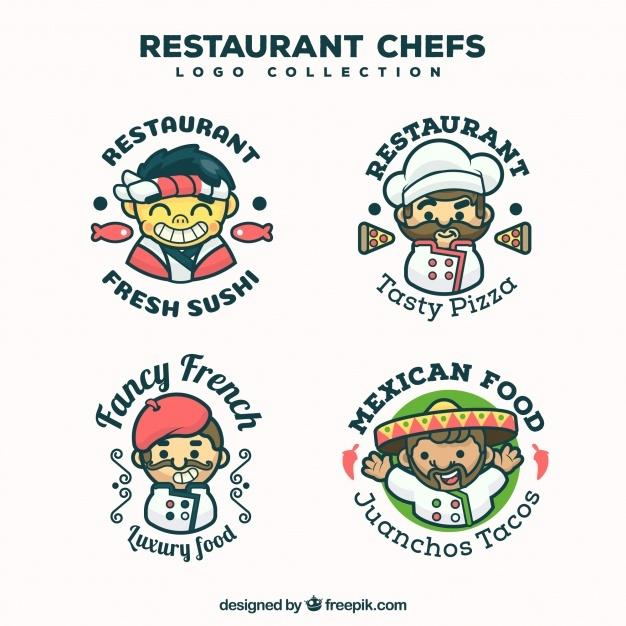 restaurant_chef_logo_collection