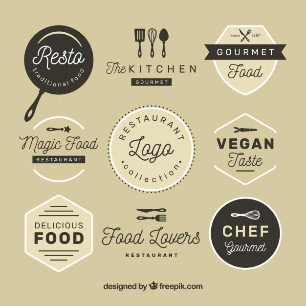 vintage_restaurant_logos_with_badge_design