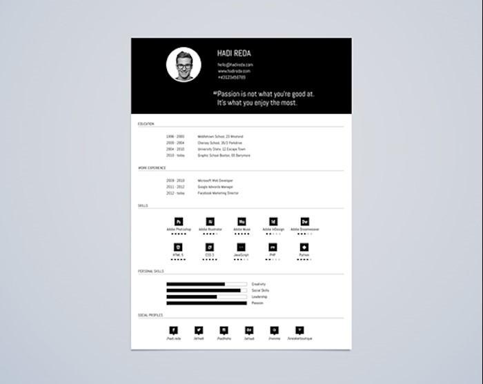 cv_resume_template_din_a4_free_psd