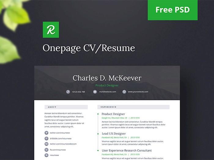 onepage_free_cv_resume_psd_template