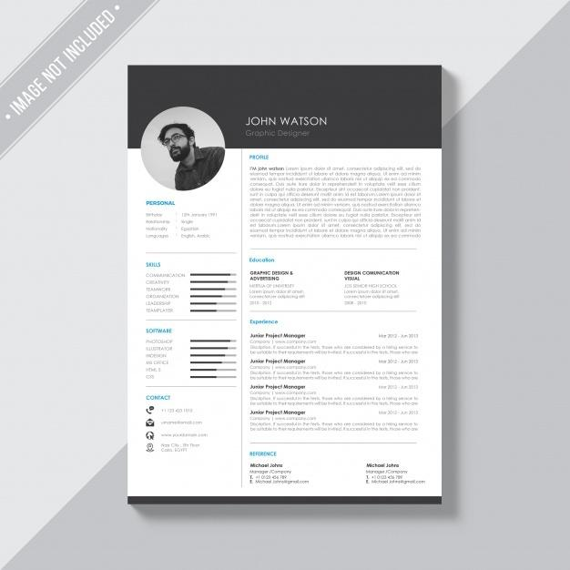 black_and_white_cv_template