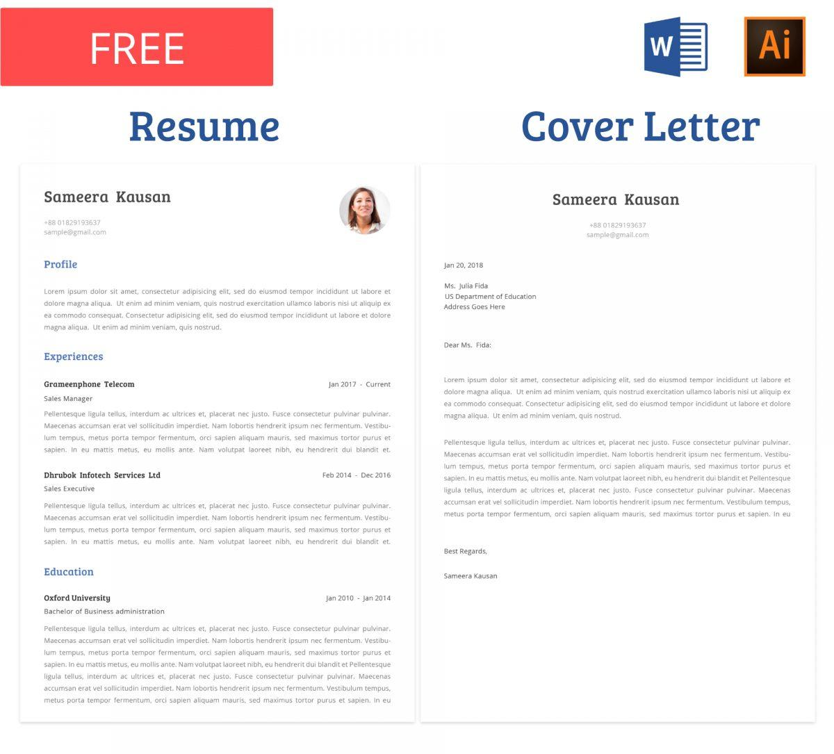 free_resume_template_with_cover_letter