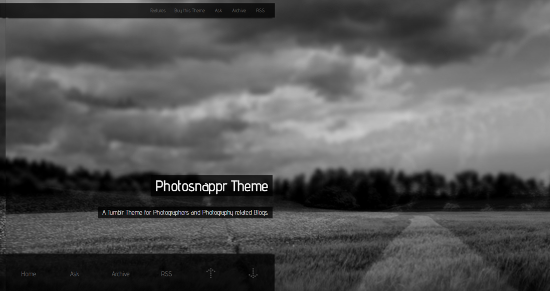 Photosnappr Is Elegant Fullscreen Photography Tumblr Theme With 12 Background Images Slider Google Web Fonts Overlay Image And More