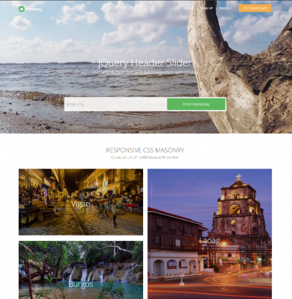 homestay_responsive_template