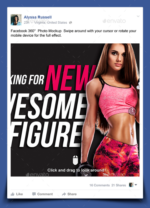 15 Fully-Editable Facebook Mockup | UTemplates