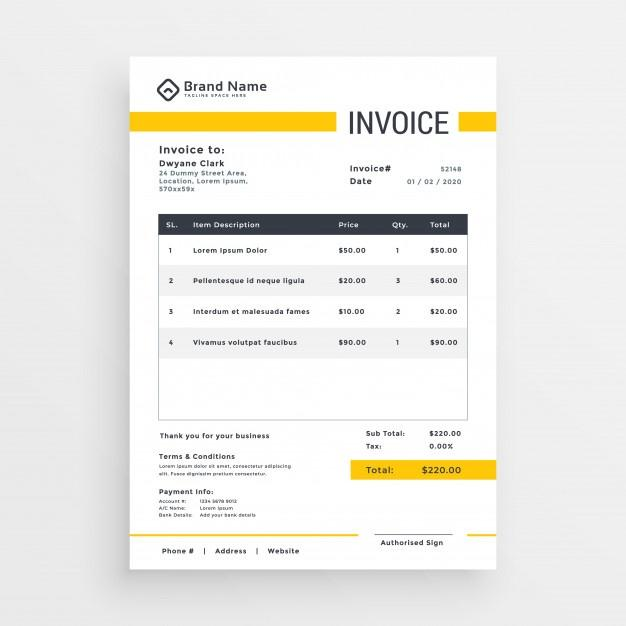 minimal_yellow_invoice_template_vector_design
