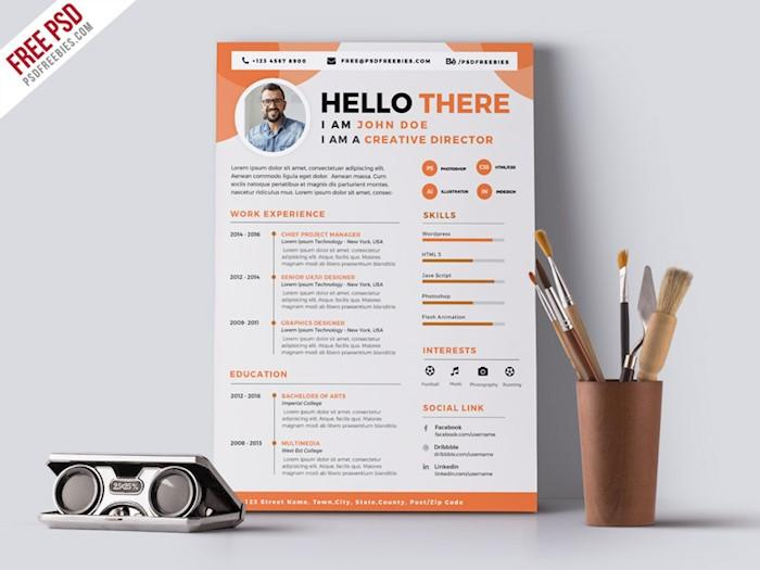 50 Awesome Resume Cv Templates For 2018 Utemplates