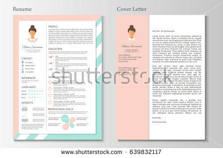 feminine_resume_with_infographic_design
