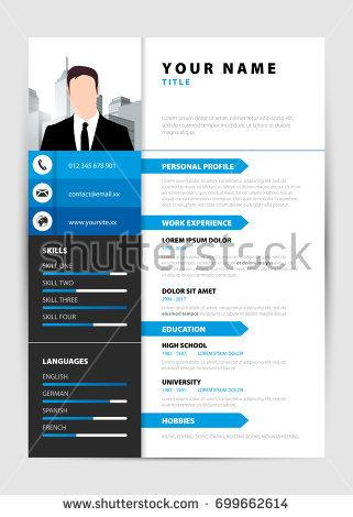 personal_resume._modern_template_in_blue_style._vector_illustration