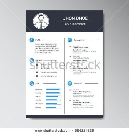 unique_flat_color_curriculum_vitae_design_template