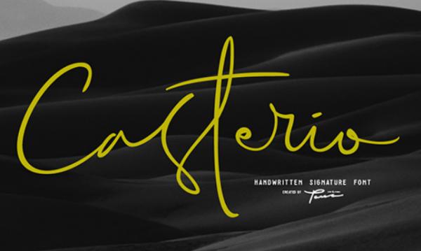 casterio_signature_font