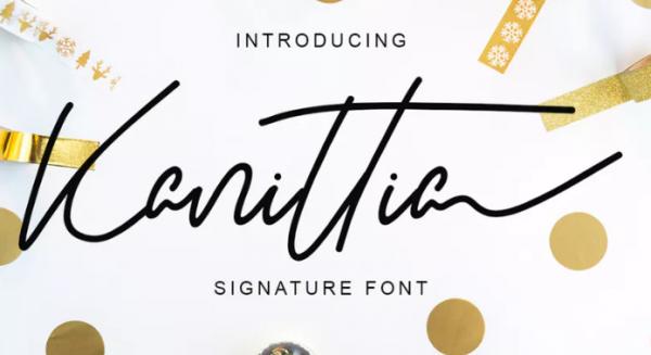 kanittia_signature_font