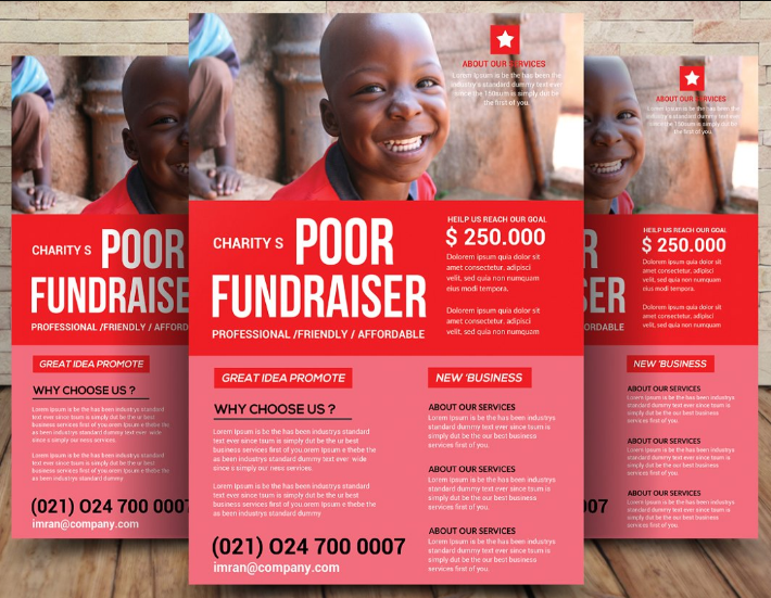 10  free donation    fundraiser flyer psd templates