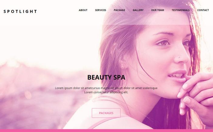 15+ Best Spa / Beauty / Salon HTML Website Templates