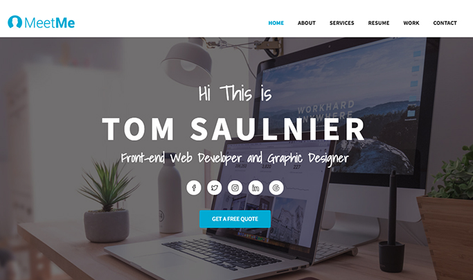 25 Awesome Css Html Resume Website Templates Utemplates