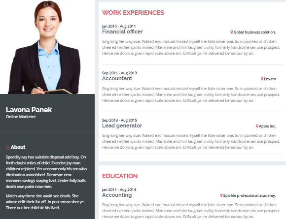 Introduction Is A Clean Modern Minimal Responsive Bootstrap Resume Website Template It Comes With Typography Colors And Stylish UI