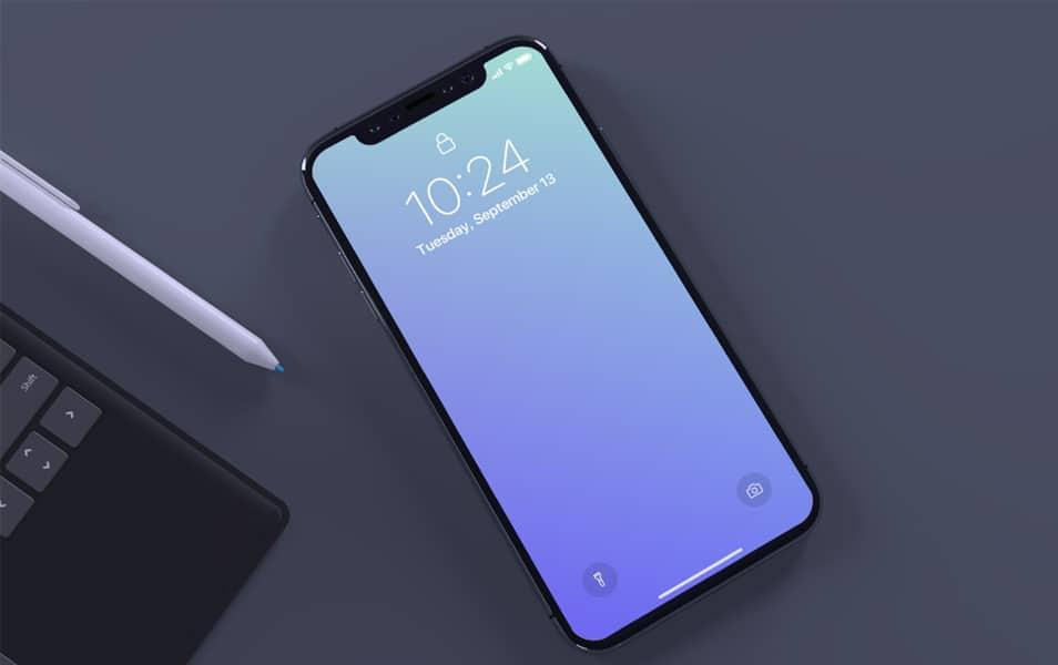 top_view_of_iphone_x_mockup