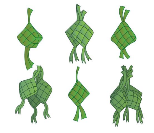 ketupat_hand_drawn_illustration_set